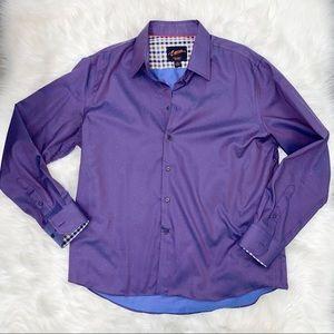 NWOT Egara Purple slim fit stretch non iron shirt